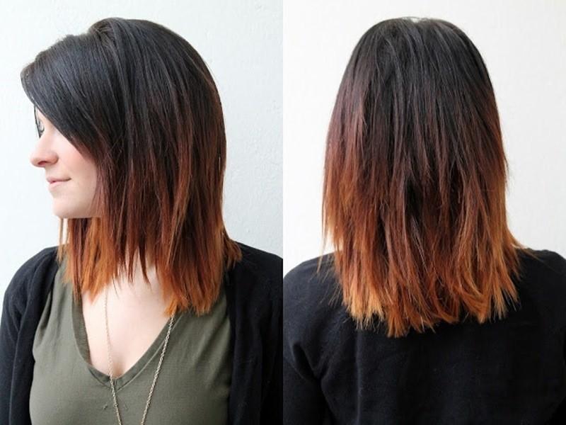 Mittellang Ombre Haar farben ideen