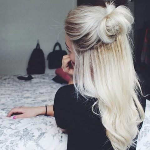 12-Platinum blonde haare