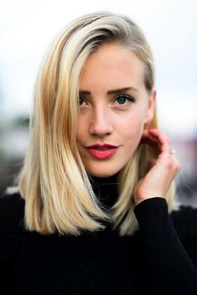 Lang Blonde Bob Frisuren für Fine Haar