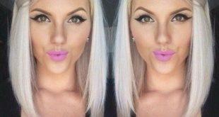 platinum blonde lob frisuren für frauen