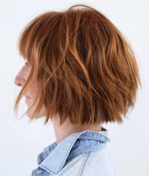 3.Wunderschöne Alltags-abgehackte bob all-over-Kupfer Farbe für kurzes Haar