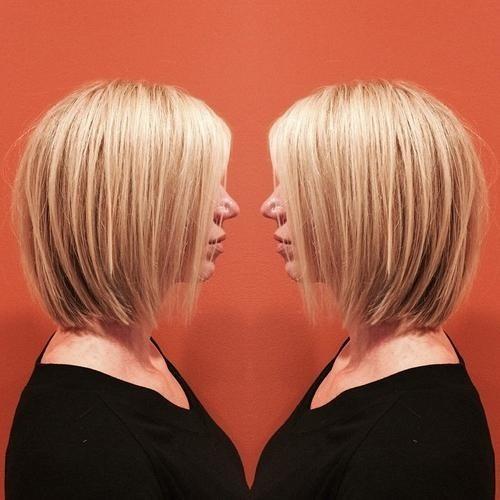 4.Abgehackt textur & beige-Blond highlights auf Tag-zu-Abend A-Linie bob