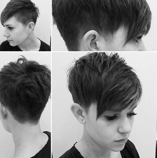 5-Pixie Haarschnitt - Razierte Kurze Haar 2017
