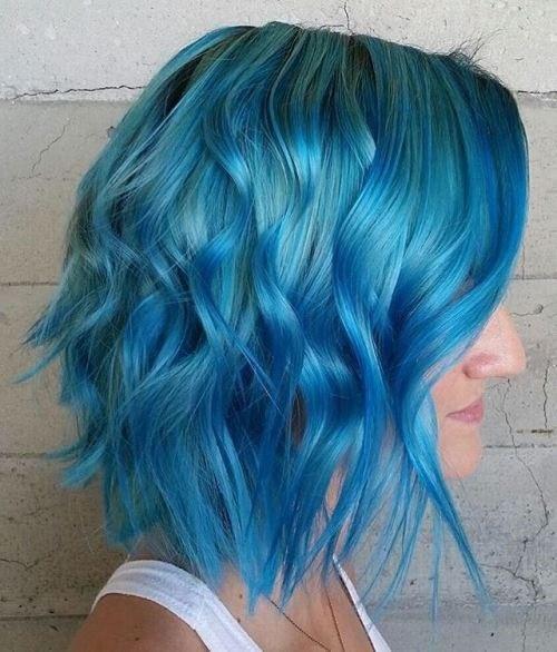 5.Glänzend blauen Wellen über das Meer-grün auf mittlere bob