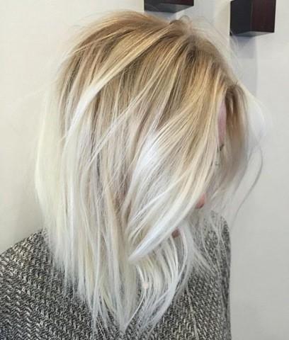 20 haar farbe ideen platin blonde haare for Ombre mittellang