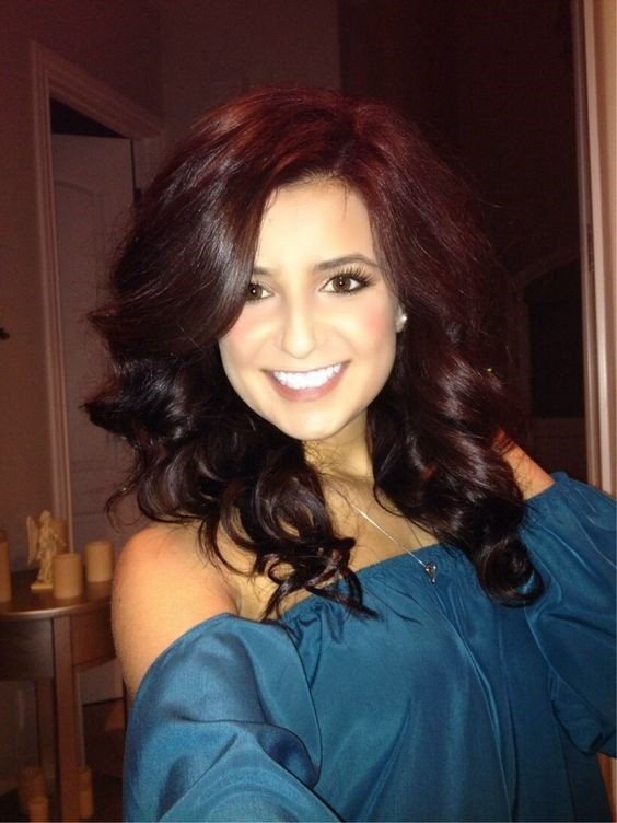 8-Rot Violett Schokolade braunes Haar