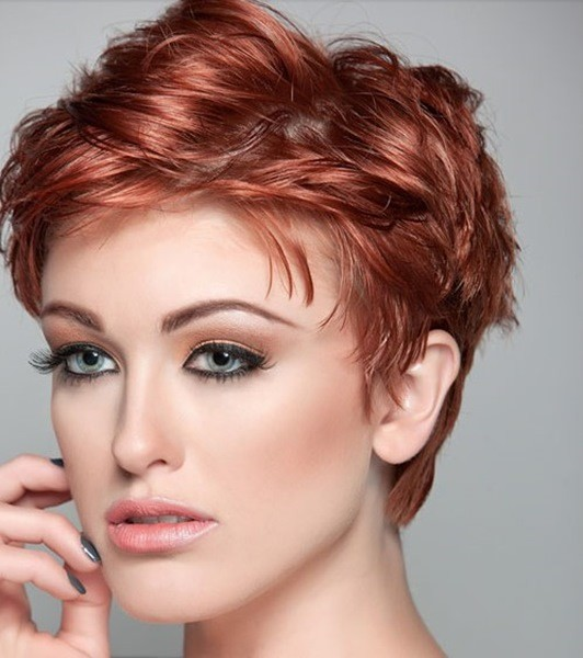 2-Rötlich Kurzes Haar für ovale gesicht
