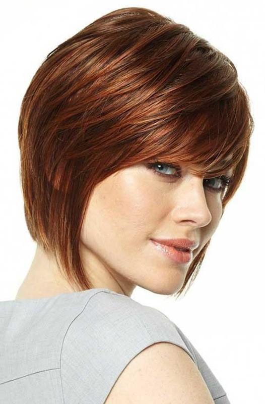 Kurze Kupfer-Frisur für Ovale Gesichter