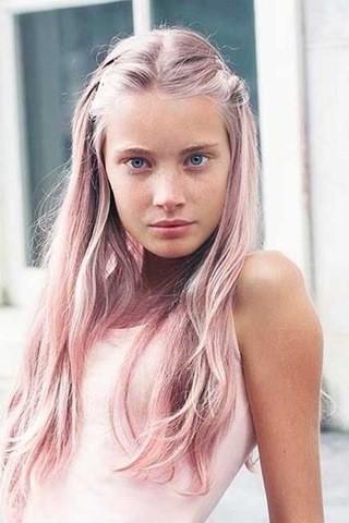 16-Dusty Rose-Rosa und Blond
