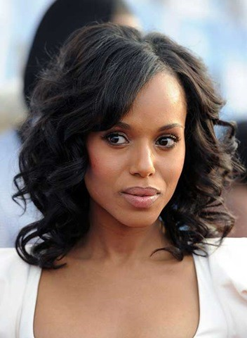 20. Kerry Washington, Schwarzes Lockiges Haar