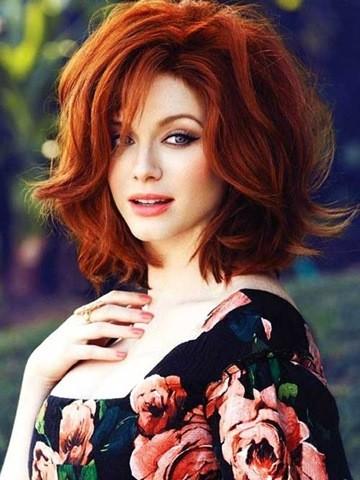 35. Rote Dicke Lockige Haarschnitt