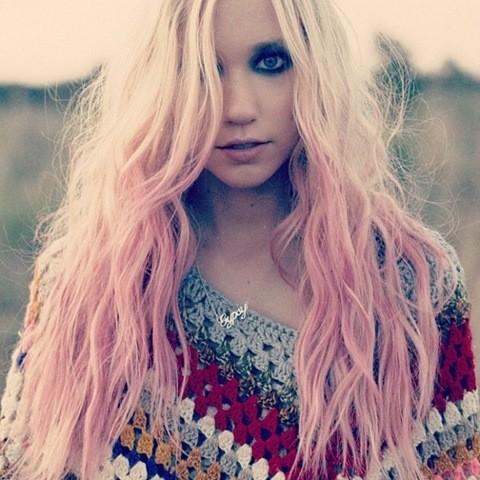 6-Hippie Blond mit Rosa Ombre