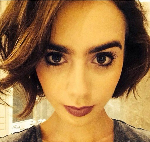 6-Lily-Collins-Pretty-Bob-frisur