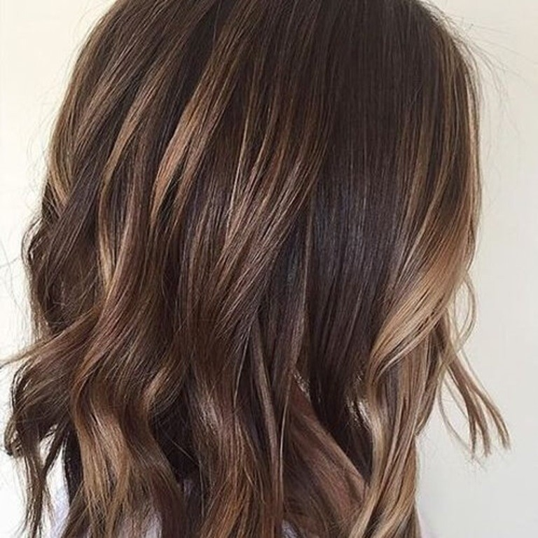 Chocolate Brown Hair With Blonde Streaks