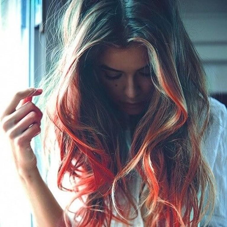Blond und Orange Mischung