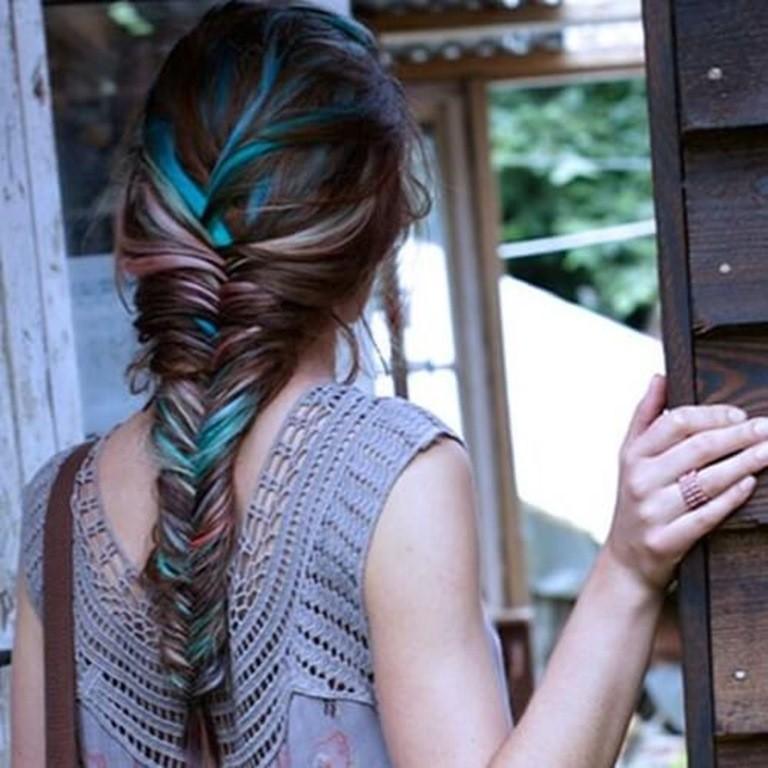 Blau und Blond Streifen