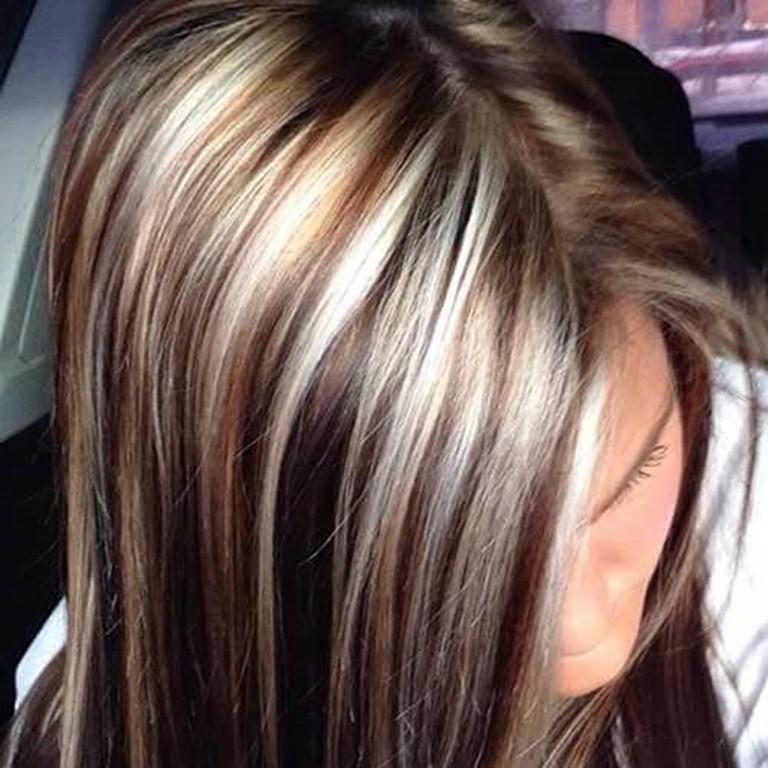 Braune haare welche strahnen