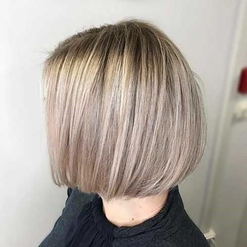 12-Asche Blondes Feines Haar