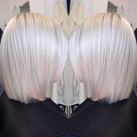 13-Cute Weiß Blond Gefärbt