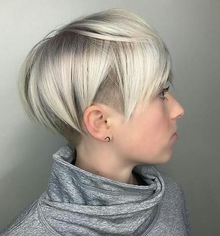 blond sidecut frisuren für frauen