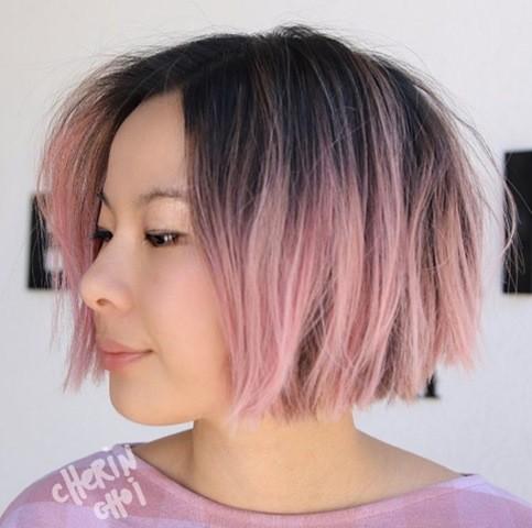 rosa-kurze-bob-haarschnitt