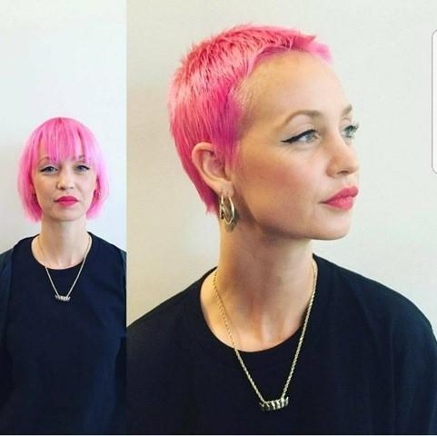 Boycut Pink Haarfarben
