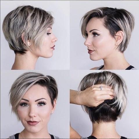 Dunkelblond Pixie Haarschnitt