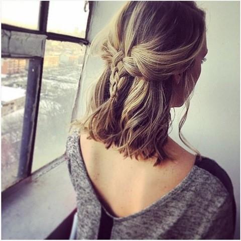 Flecht Frisur für Mittellang Haar