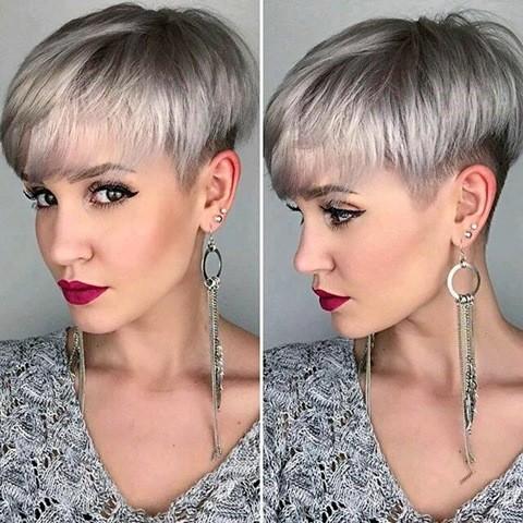 Platinum Pixie Haar