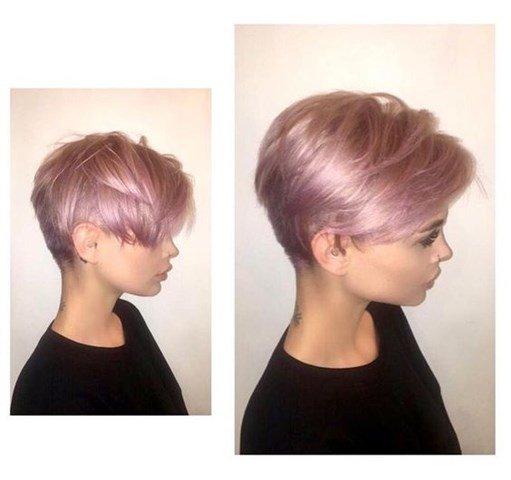 8-Lila Pixie Frisur