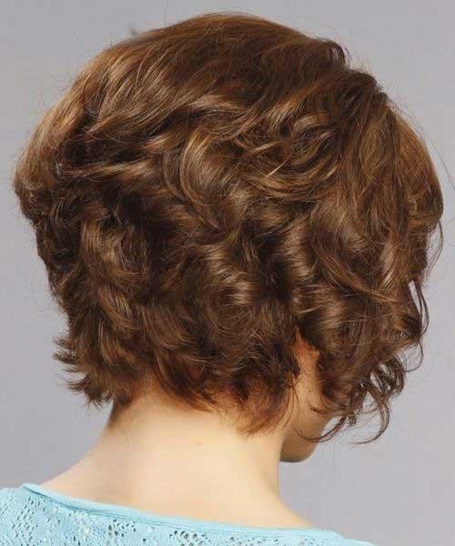 14. Hinterkopf von Kurzen Lockigen Bob Haar