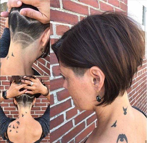 Neue Braun Bob Haarschnitt