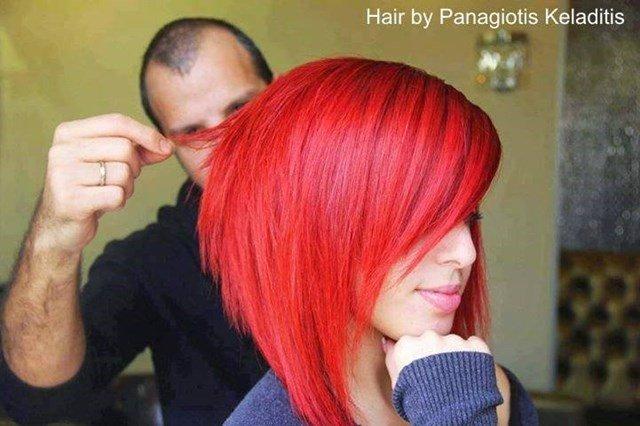 Rote Bob Frisuren