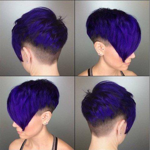 Blau Undercut Pixie Haar