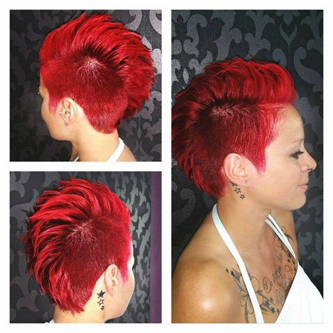 Spiky Rot Haare