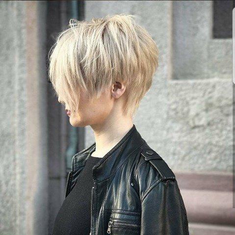 Lang Pixie Frisur