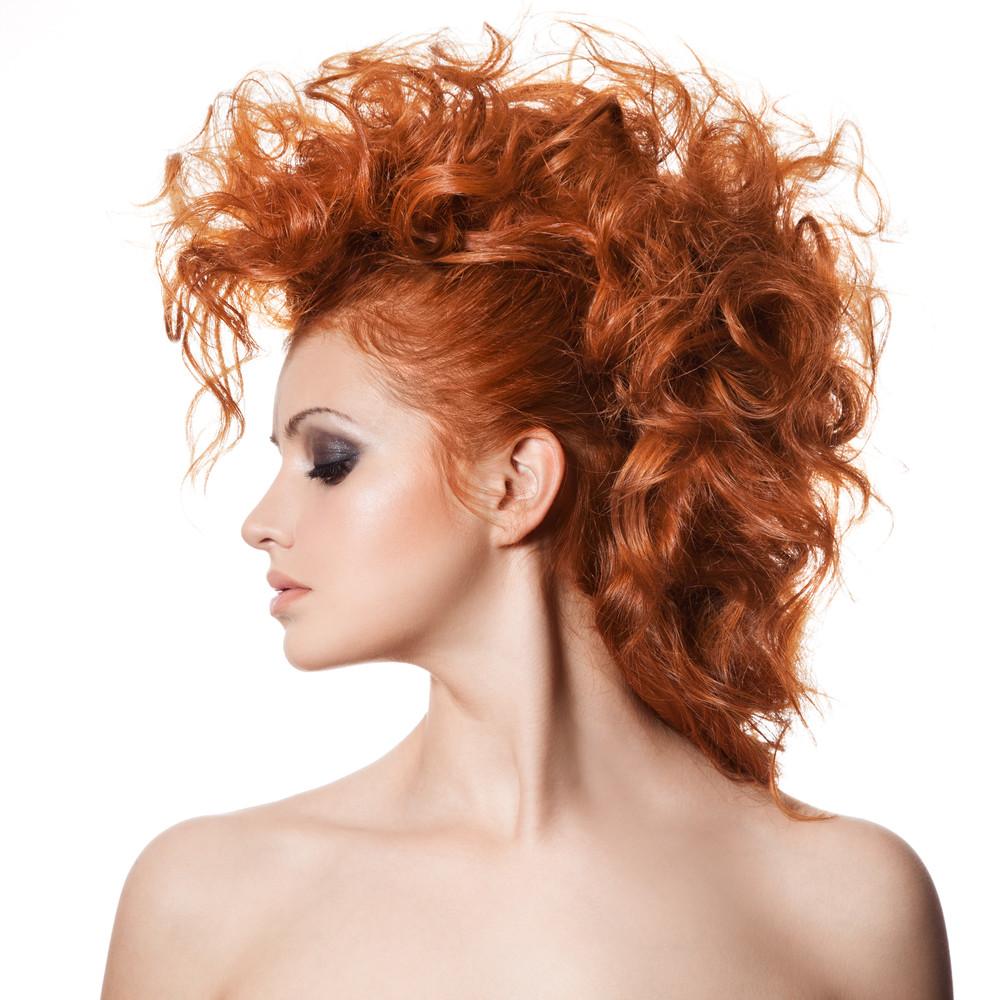 1-Flauschige Modell Frisuren