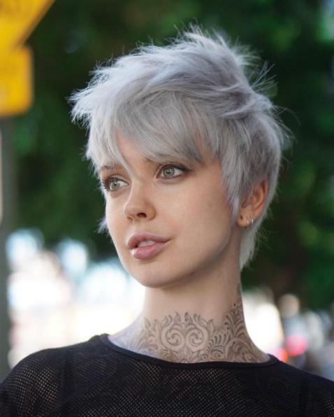 Grau Pixie Frisur