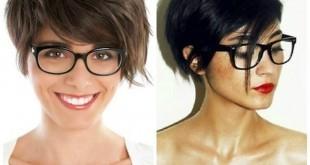 Freche Kurzhaarfrisuren für Brillenträgerinnen sind trendy