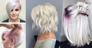 Neue Trend 2018: Haare weiß färben
