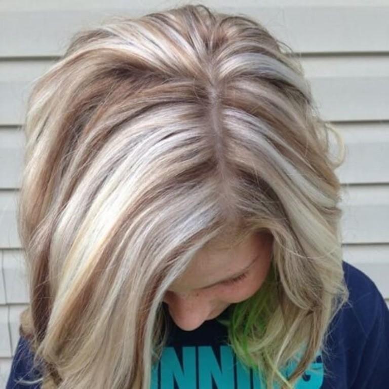 Blonde strähnen auf braune haare
