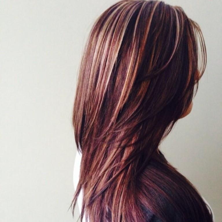 22 Dunkelbraune Haare Mit Blonden Und Roten Str 228 Hnen